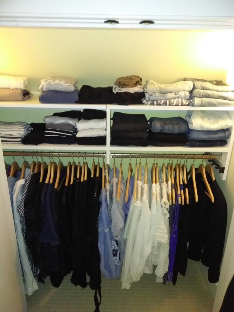 mens clothing closet after