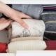 professional organizer folding clothes